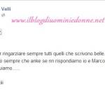 Beatrice Valli scrive su Marco Fantini su facebook