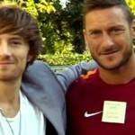 Francesco Sole con Francesco Totti