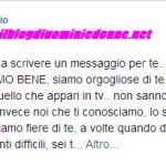 Fabio Colloricchio messaggio su facebook